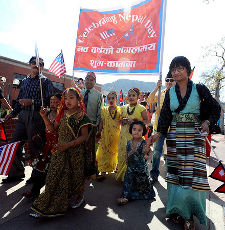 "About 150 people celebrated Nepal Day  in a march down Pearl Street.<br /> The Nepal New Year of B.S. 2067 was celebrated in Boulder on Sunday with a parade around downtown by area residents.<br /> For more photos, go to  <a href=""http://www.dailycamera.com"">http://www.dailycamera.com</a>.<br /> Cliff Grassmick / April 18, 2010"