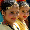 """Kareen Basnet, 9, left, and Priti Poudel, 9, stop for a photo before the parade.<br /> The Nepal New Year of B.S. 2067 was celebrated in Boulder on Sunday with a parade around downtown by area residents.<br /> For more photos, go to  <a href=""""http://www.dailycamera.com"""">http://www.dailycamera.com</a>.<br /> Cliff Grassmick / April 18, 2010"""