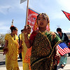 """Sarina Shrestha, 6, marches across Canyon Blvd with about 150 people celebrating Nepal Day.<br /> The Nepal New Year of B.S. 2067 was celebrated in Boulder on Sunday with a parade around downtown by area residents.<br /> For more photos, go to  <a href=""""http://www.dailycamera.com"""">http://www.dailycamera.com</a>.<br /> Cliff Grassmick / April 18, 2010"""