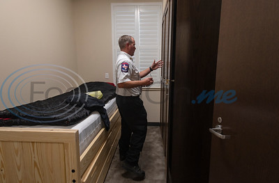 J.D. Smith, Assistant Chief for ESD 2, shows off one of the overnight rooms inside the new Arp Fire Station No. 1 on Tuesday, Oct. 6, 2020. The new station is serviced by fire crews from Smith County Emergency Services District 2 and Arp Volunteer Fire Department. Beginning on October 4, 2020, the station began housing 24-hour staff. The new facility replaces the former facility built in 1979. New amenities include overnight accommodations, showers, a day room and kitchen, a gym, increased storage and a large training room.
