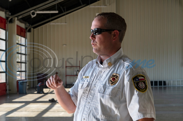 J.D. Smith, Assistant Chief for ESD 2, talks about the new Arp Fire Station No. 1 on Tuesday, Oct. 6, 2020. The new station is serviced by fire crews from Smith County Emergency Services District 2 and Arp Volunteer Fire Department. Beginning on October 4, 2020, the station began housing 24-hour staff. The new facility replaces the former facility built in 1979. New amenities include overnight accommodations, showers, a day room and kitchen, a gym, increased storage and a large training room.
