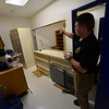 KRISTOPHER RADDER - BRATTLEBORO REFORMER<br /> Brattleboro Det. Ryan Washburn talks about the evidence locker at the new Brattleboro Police Department on Friday, Sept. 15, 2017<br /> .