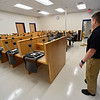 KRISTOPHER RADDER - BRATTLEBORO REFORMER<br /> Brattleboro Det. Ryan Washburn shows off the new Brattleboro Police Department on Friday, Sept. 15, 2017