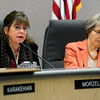 COUNCIL<br /> Lisa Morzel speaks after being elected deputy mayor after the swearing-in ceremony of the new Boulder city council on Tuesday.<br /> <br /> <br /> PHOTO BY MARTY CAIVANO<br /> Nov. 15, 2011