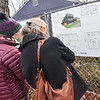 KRISTOPHER RADDER — BRATTLEBORO REFORMER<br /> People check out the design of the new Groundworks Collaborative building that will be built on South Main Street on Monday, Nov. 25, 2019.