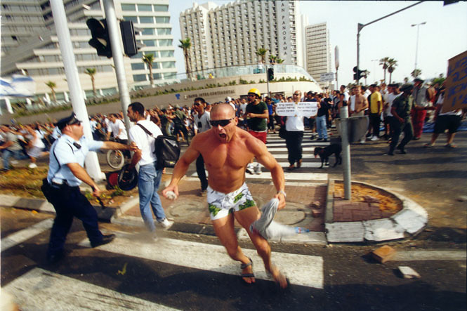 Riots near Hassan Beck Mosque, Tel Aviv
