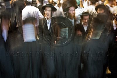 Thousands sing, dance and celebrate the Jewish holiday of Lag BaOmer at the gravesite of Rabbi Shimon Bar Yochai. Meron, Israel. 22/05/2011.