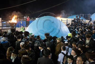 Hundreds of thousands celebrate the Jewish holiday of Lag BaOmer at the gravesite of Rabbi Shimon Bar Yochai. Meron, Israel. 22/05/2011.