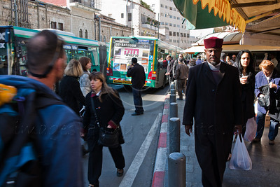 Jaffa Road, the main transportation artery in Jerusalem until only last week, is now closed to all traffic except the new Light Rail Transit system. Tests have begun this week and the LRT has hit Jaffa Road for the first time. The Jerusalem Municipality and police have deployed dozens of officers and ushers to educate the public in conducting themselves safely along the tracks. Barriers have been set up to prevent pedestrians from crossing Jaffa Road except at supervised intersections.  All bus lines, previously running along Jaffa Road, have been diverted to adjacent streets. The already crowded Agripas Street, near the Machane Yehuda Shuk market, has now become a nightmare with some 20 bus lines running in both directions. An expected one thousand buses will travel daily in both directions of this narrow two-lane street. Egged bus company supervisors desperately attempt to direct traffic and untie the knot.  The LRT project is now expected to be completed by April 2011. The municipality has suggested free rides for all until it becomes commercial in August.