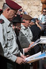 New IDF Chief of Staff, Benny Gantz, Prays for Devine Support at The Kotel. Jerusalem, Israel. 14/02/2011. <br /> <br /> Rav-Aluf, Major General, Benny Gantz was awarded his new rank today by PM Benyamin Netanyahu and appointed Chief of Staff of the IDF. Immediately following the ceremony, Gantz paid a visit for prayer at the Western Wall accompanied by Major General Gabi Ashkenazi, the outgoing Chief of Staff. Both officers prayed and wrote personal handwritten notes, carefully placing them between the ancient stones of the Wailing Wall.