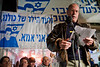 Author Meir Shalev speaks at a rally marking 1,700 days of captivity held at the Shalit family protest tent opposite the PM's residence. Jerusalem, Israel. 19/02/2011.