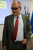 "MK Daniel Ben-Simon experiences artificial eye sight as Knesset Science and Technology Committee Celebrates Einstein's 132nd Birthday at the Hebrew University. Jerusalem, Israel. 14/03/2011.<br /> <br /> The Knesset Science and Technology Committee were guests of Prof. Menachem Ben-Sasson, President of the Hebrew University, today, on this 14th of March, the 132nd birthday of Albert Einstein (b. 1879), commemorated as National Science Day in Israel. Chairman MK Meir Sheetrit (Kadima) headed the committee meeting with members Prof. Daniel Hershkowitz (Habayit Hayehudi), Minister of Science and Technology, MK Daniel Ben-Simon (Ha'Avoda) and MK Dr. Rachel Adato (Kadima).<br /> <br /> University faculty introduced committee to recent progress in nano-science, nano-technology and in artificial sight. The meeting took place in the ELSC Building - the Edmond and Lily Safra Center for Brain Sciences in the Hebrew University in Givat Ram, Jerusalem. <br /> <br /> ""The Hebrew University of Jerusalem is consistently rated as the top Israeli university and is among the leading universities worldwide in international surveys; its alumni and faculty have been awarded seven Nobel Prizes. Neuroscience research has been one of the most successful domains of activity at the Hebrew University, and our neuroscientists have achieved international recognition for their accomplishments in many areas, including cellular, molecular and circuit functions, learning and movement control, computational and theoretical neuroscience, and human perception and cognition"" (Hebrew University publication).<br /> <br /> Following a lecture on Einstein's Legacy delivered by the Academic Director of the Einstein Archive, Prof. Hanoch Gutfroind, University President Prof. Menachem Ben-Sasson announced the Hebrew University will today begin scanning all of Albert Einstein's writings and make them publicly available worldwide."