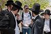 Heated debate breaks out between anti-gender-segregation activist Jonathan Hefetz Gozlan and residents of religious Shmuel Hanavi neighborhood. Jerusalem, Israel. 20/04/2011.