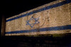 The Flag of Hope is lit in its entirety on the Old City Walls at a ceremony beginning the ELEM annual donor drive for youth at risk. Jerusalem, Israel. 27/04/2011.