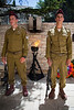 A guard of homor of IDF Paratroopers at a ceremony on the Mount of Olives on Memorial Day. Jerusalem, Israel. 09/05/2011.