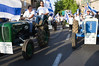 A 1961 Steyr (L) and a 1964 Ford 4000 (R) in a colorful parade on the eve of the 44th anniversary of the reunification of Jerusalem under Israeli sovereignty. Jerusalem, Israel. 30 May 2011.