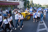 Agricultural settlements, youth movements, schools and other organizations from around the country salute Jerusalem in a colorful parade on the eve of the 44th anniversary of the reunification of Jerusalem under Israeli sovereignty. Jerusalem, Israel. 30 May 2011.