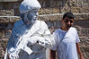 Lone white soldier-actor patrols Jerusalem streets. Jerusalem, Israel. 30 May 2011.