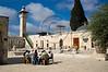 A group of men study near the Al-Aqsa Mosque on Temple Mount. Jerusalem, Israel. 2 June 2011.