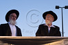 Rabbis Dov Lior (R) and Yaakov Yosef (L)  are guests of honor at rally for respect and independence of the Torah. Jerusalem, Israel. 4th July 2011.