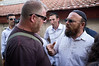Right-wing activists Baruch Marzel and Itamar Ben-Gvir organised a tour today, of the Simon The Just (Shimon HaTzadik) neighborhood in Sheikh Jarrah.