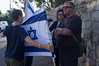 Right-wing activists continuously harass two a female photographer  following a tour today of the Simon The Just (Shimon HaTzadik) neighborhood in Sheikh Jarrah.