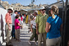 Tens of thousands of tourists visit Temple Mount annually entering through the Mugrabi Bridge and Gate.  Jerusalem, Israel. 20/07/2011.
