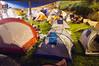 General view of  Tent City Menorah Park. Jerusalem, Israel. 26/07/2011.