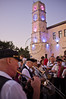 Klezmer musicians play Jewish soul music for the crowds in the 24th Int'l Klezmer Festival. Tzfat, Israel. 15/08/2011.