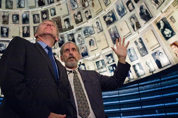 Belgium Prime Minister Yves Leterme visits Yad Vashem Holocaust Museum. Jerusalem, Israel. 04/09/2011.