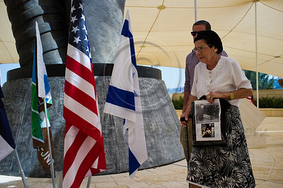 Family of Israeli World Trade Center victim take part in a memorial ceremony marking a decade since the attacks. Jerusalem, Israel. 11/09/2011.