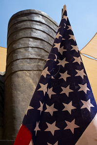 9/11 monument donated by JNF-USA and designed by Israeli artist Eliezer Weishoff. Jerusalem, Israel. 11/09/2011.
