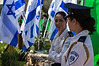 Female officers of the Knesset Guard at the Mount Hertzel Military Cemetery at a ceremony in memory of lives lost in the 1973 Yom Kippur War. Jerusalem, Israel. 09/10/2011.