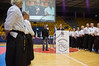 Jerusalem Mayor Nir Barkat welcomes competitors to Jerusalem in the 2011 European Traditional Karate Championship opening ceremony hosted by the Traditional Karate Federation of Israel. Jerusalem, Israel. 17th November 2011.