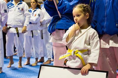 Ukrainian team takes part in the 2011 European Traditional Karate Championship opening ceremony hosted by the Traditional Karate Federation of Israel. Jerusalem, Israel. 17th November 2011.