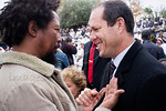Jerusalem Mayor, Mr. Nir Barkat, greets members of the Jewish Ethiopian community celebrating the Sigd Holiday, symbolizing their yearning for Jerusalem, at the Sherover Promenade overlookin ...