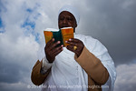 The Jewish Ethiopian community in Israel celebrates the Sigd Holiday, symbolizing their yearning for Jerusalem, at the Sherover Promenade overlooking the Temple Mount. Jerusalem, Israel. 24t ...