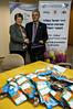 Deputy Mayor Naomi Tsur (L) presents Chairman of Christians Voor Israel - Holland, Disk Schutte (R) with a gift of City Hall. Jerusalem, Israel. 1st December 2011