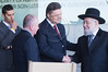 President of Ukraine, Viktor Yanukovych, shakes the hand of Rabbi Israel Meir Lau, chairman of Yad Vashem, concluding a visit to the museum. Jerusalem, Israel. 1st December 2011.