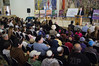 Speaker of the Knesset Reuven Rubi Rivlin addresses the audience at a ceremony inaugurating a new visitor center in the Knesset, promoting public education and involvement in democracy. Jerusalem, Israel. 11th December 2011.