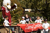 Winners of the Elmo Eagle Coloring Contest, sponsored by the Student Alumni Council, ride in style during the Chadron State College homecoming parade Saturday, Oct. 1. (Photo by Justin Haag)