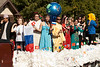 The Chadron State College International Club float travels the homecoming parade route Saturday, Oct. 1. (Photo by Justin Haag)