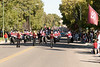 The Hemingford High School marching band plays along the Chadron State College homecoming parade route Saturday, Oct. 1. (Photo by Justin Haag)