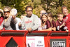 Members of the Chadron State College Alumni Board are joined by their children during the homecoming parade Saturday, Oct. 1. (Photo by Justin Haag)