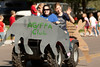 One vehicle of the Applied Sciences entry motors down the Chadron State College parade route Saturday, Oct. 1. (Photo by Justin Haag)