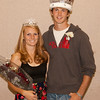 Ashley Riesen and Adam Neumann pose for a photo after they were crowned homecoming royalty at the spirit rally Thursday, Sept. 29. (Photo by Justin Haag)