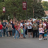 The crowd gathers on Main Street to watch the Lighting of C Hill. The annual homecoming activity conducted by Cardinal Key took on special meaning this year, as new permanent electrical lighting was installed to commemorate the centennial. (Photo by Justin Haag)