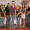 The 2011 homecoming king and queen Adam Neumann and Ashley Riesen, center, with the attendants. They are, from left, Bryant Pritchett, Kyle Klammer, Mikah Kadera, Tanner Sherlock, Neumann, Riesen, Stephanie Eggleston, Kaelie Jelden, Christine Kambarami and April Stangle. (Photo by Justin Haag)