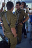 IDF soldiers take advantage of the free tram rides until the end of this week. Jerusalem, Israel. 28/08/2011.