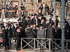 Hundreds of ultra-Orthodox Haredim riot in the neighborhood of Mea Shearim near Kikar Hashabbat protesting arrest of six community members this morning for alleged tax offenses worth millions. Jerusalem, Israel. 15th January 2012.